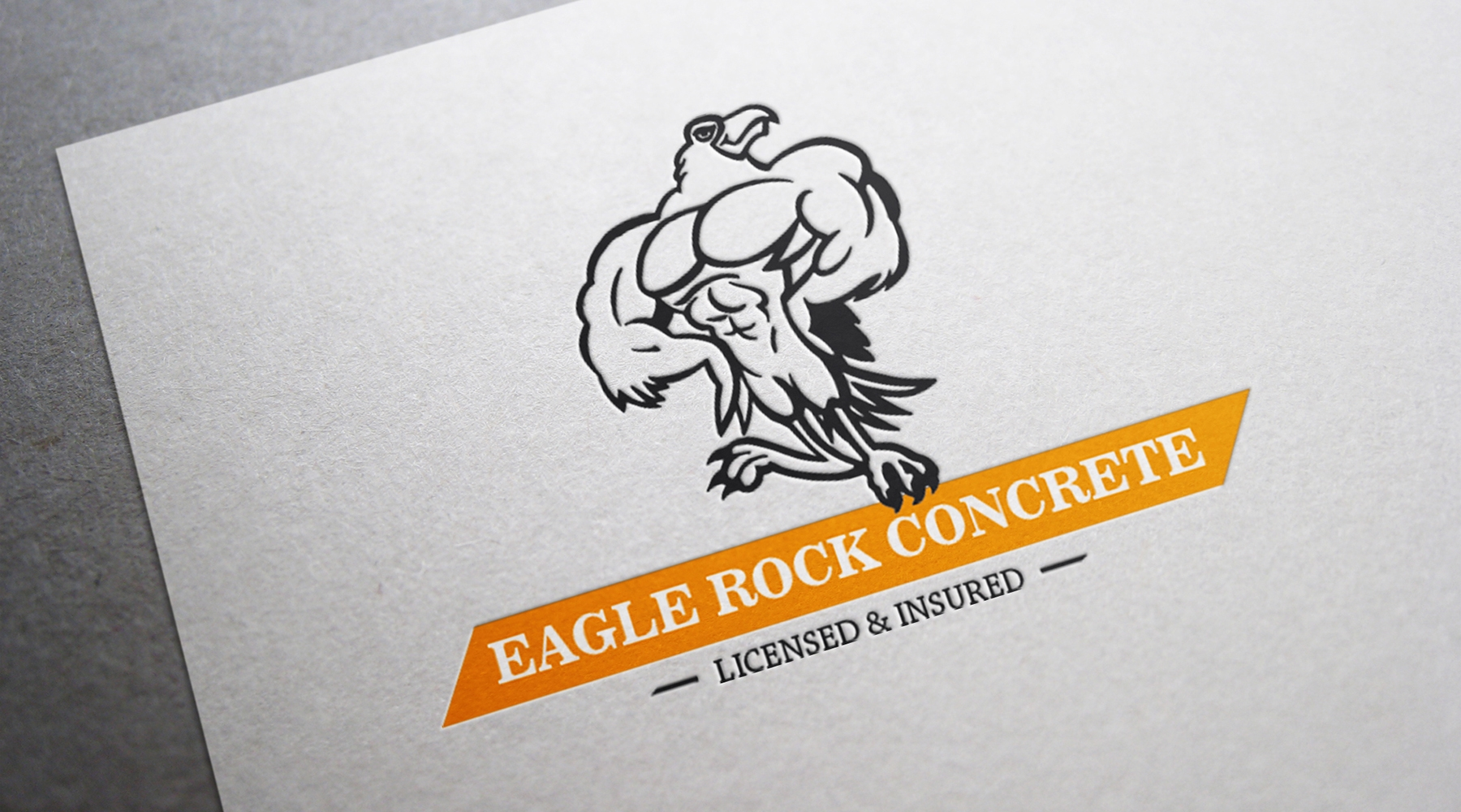 AMP design, logo Eagle Rock Concrete 2