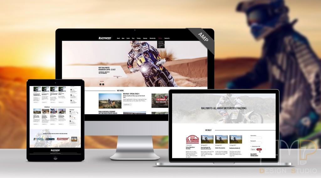 RallyMoto web design